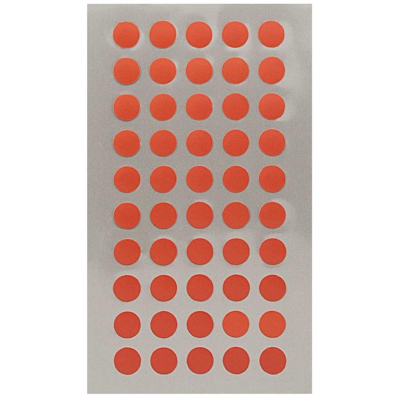200x Rode ronde sticker etiketten 8 mm