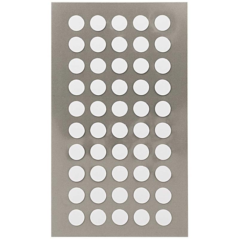 200x Witte ronde sticker etiketten 8 mm