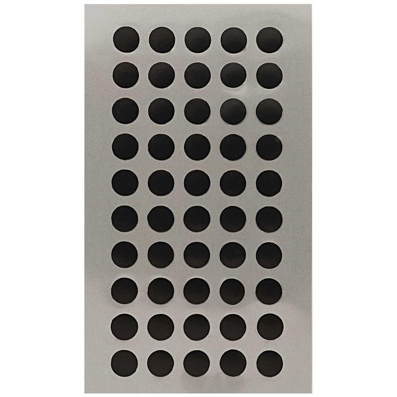 200x Zwarte ronde sticker etiketten 8 mm