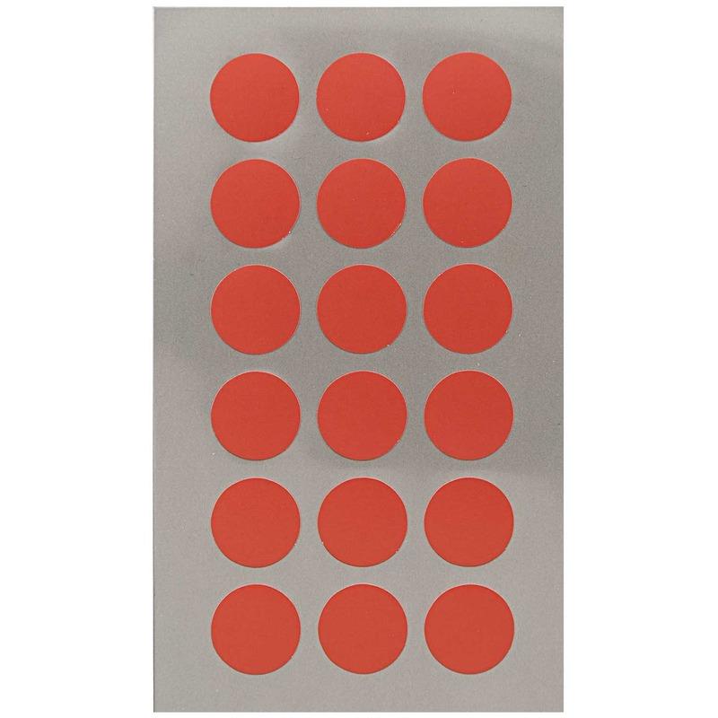 216x Rode ronde sticker etiketten 15 mm