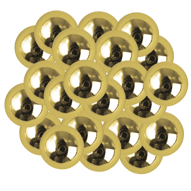 22x stuks gouden plastic hobby kralen van 10 mm