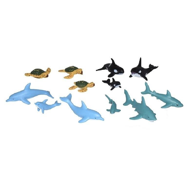 24x Zeedieren/oceaan dieren familie speelgoed figuren