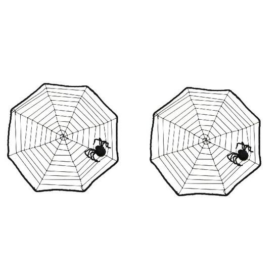 2x Halloween spinnenwebben 40 x 40 cm