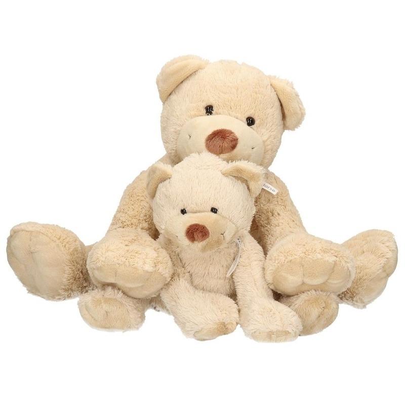 2x Knuffelberen mama en kind Boogy 35 en 24 cm