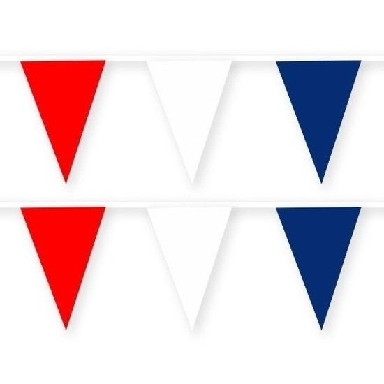 2x Nieuw Zeeland stoffen vlaggenlijnen/slingers 10 meter katoen