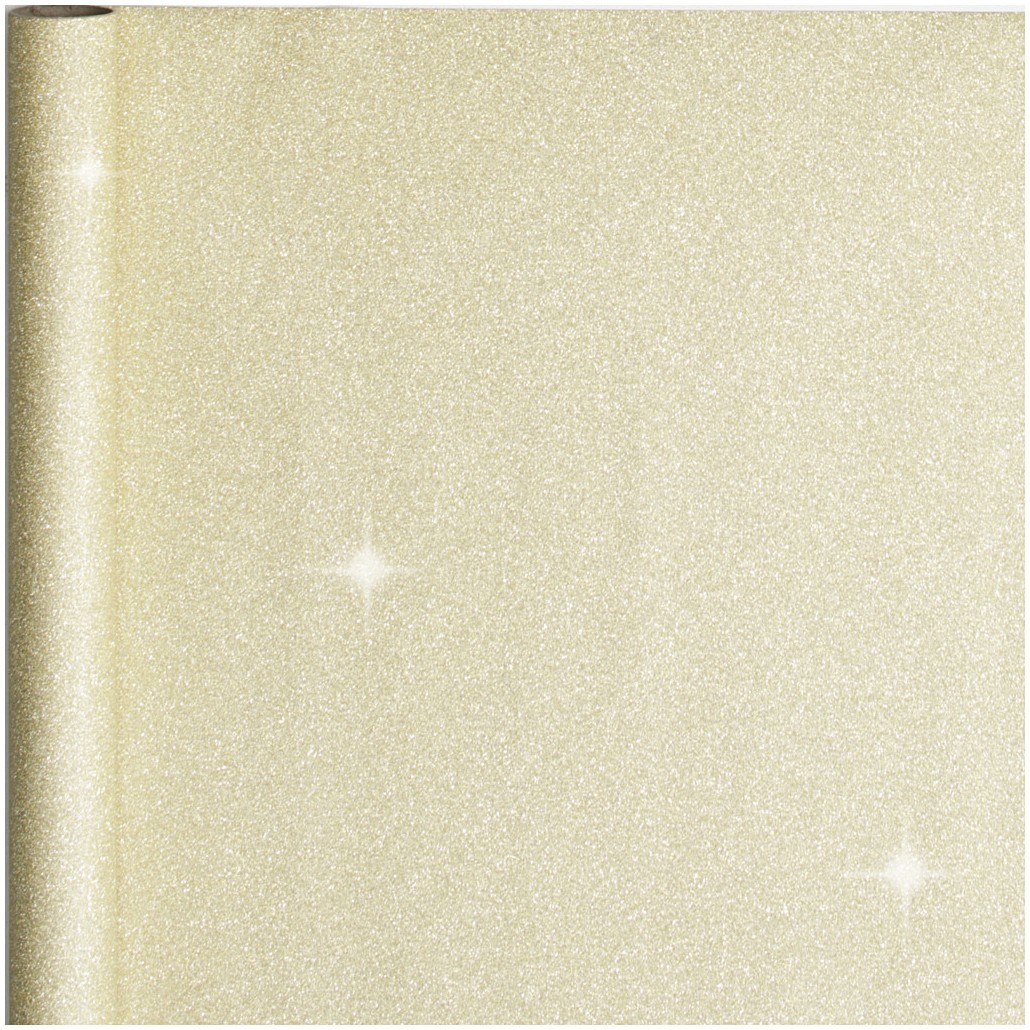 2x stuks cadeaupapier/inpakpapier goud met glitters 300 x 50 cm