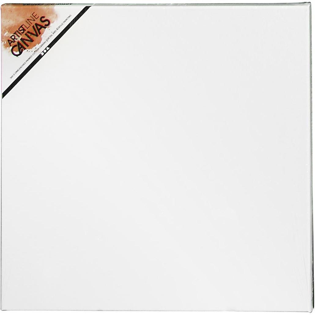 2x stuks schildersdoeken 50 x 50 cm voor hobby verven/schilderen