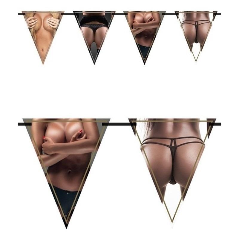 2x Vlaggenlijnen borsten en billen 6 meter