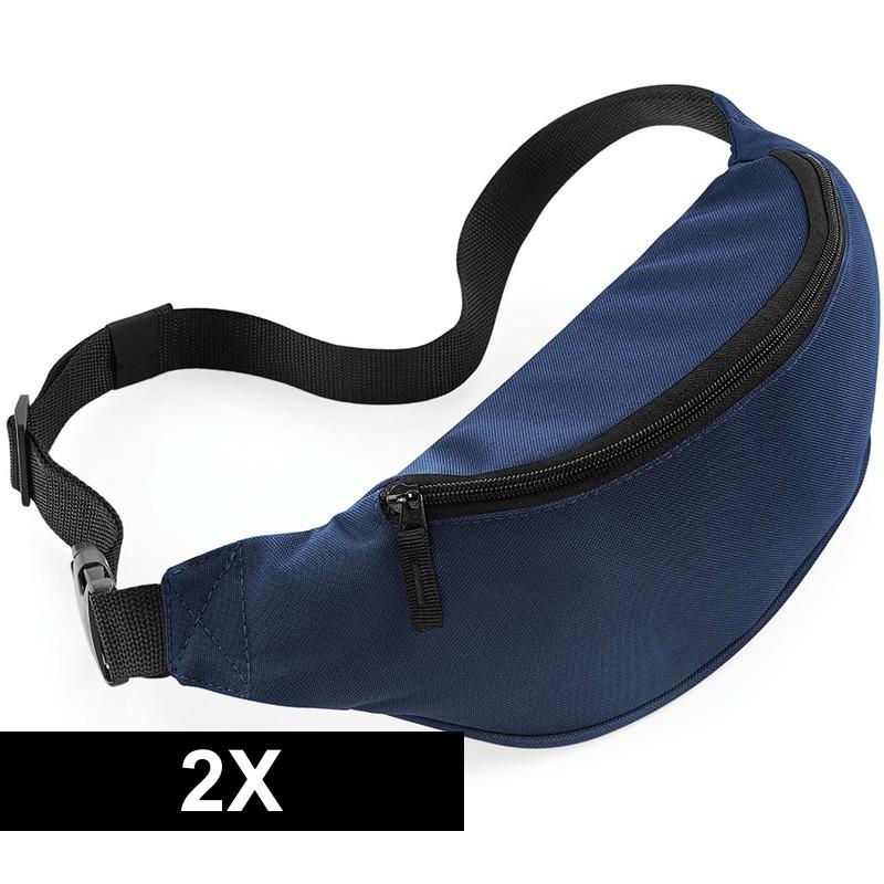 2x Wandel heuptas navy blauw 38 cm
