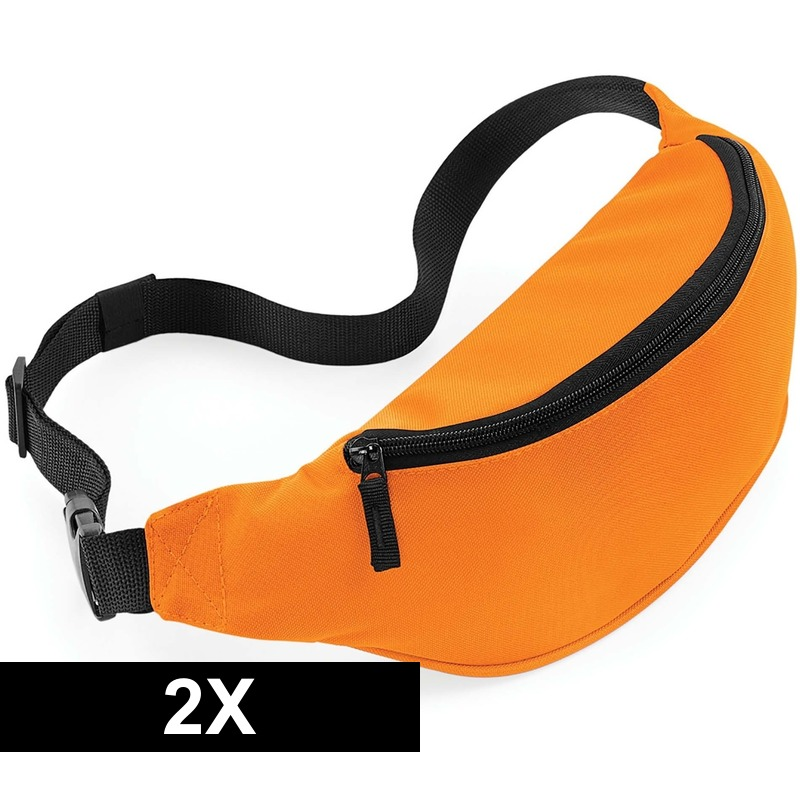 2x Wandel heuptas oranje 38 cm