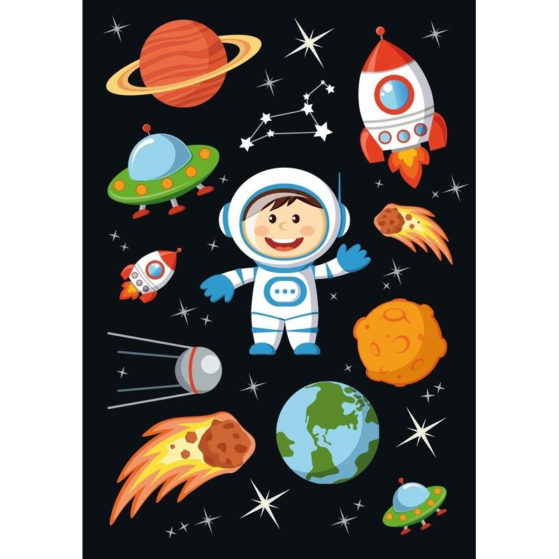 30x Astronauten/ruimte stickers