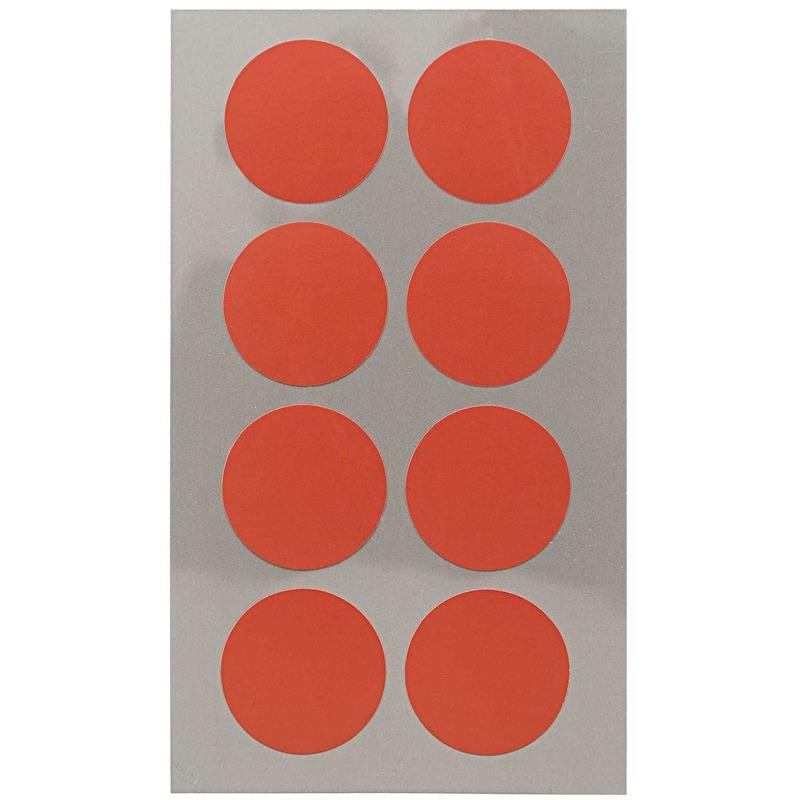 32x Rode ronde sticker etiketten 25 mm