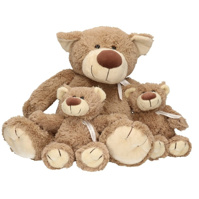3x Knuffelberen mama en kinderen Bella 40 en 22 cm