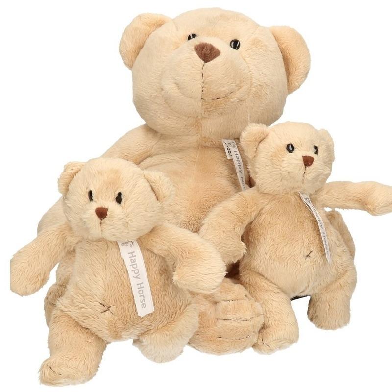 3x Knuffelberen mama en kinderen Buster 40 en 23 cm