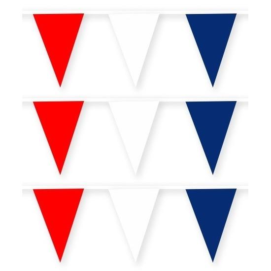 3x Nederland stoffen vlaggenlijnen/slingers 10 meter katoen