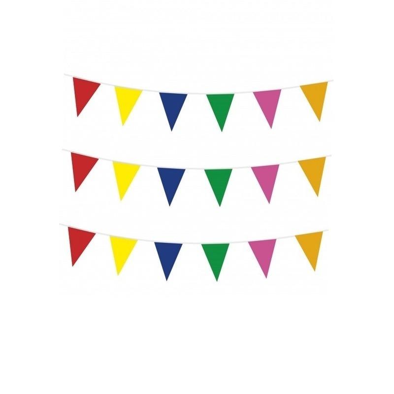 3x stuks feest vlaggenlijnen 10 meter