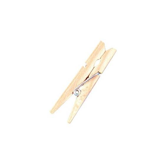 48x Mini houten wasknijpers 4.5 cm