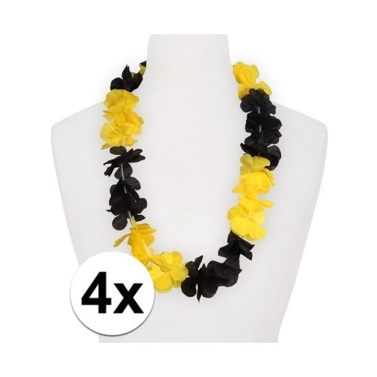 4x Hawaii slinger geel/zwart