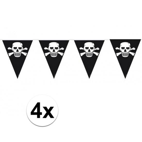 4x Piratenfeest vlaggenlijnen