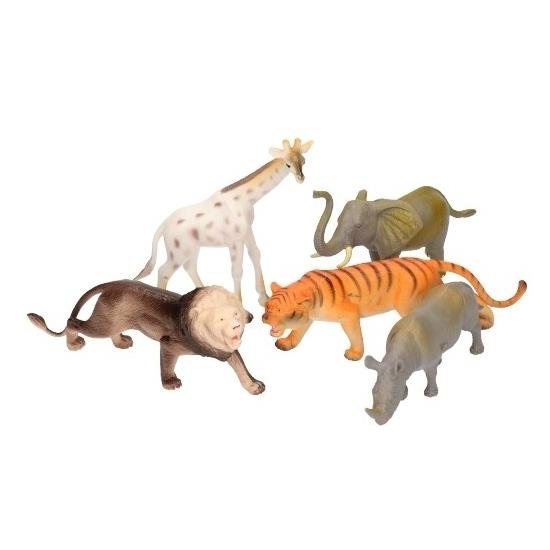 5 delige groteplastic safari dierenset