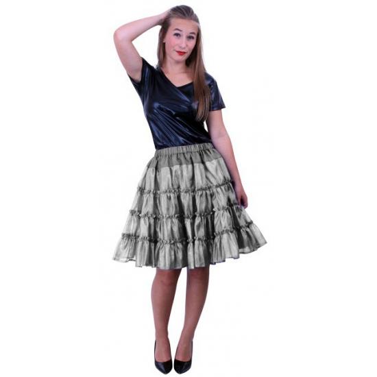 5-laagse zilveren petticoats