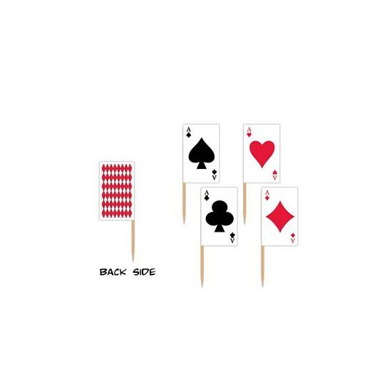 50x stuks Casino thema cocktailprikkers