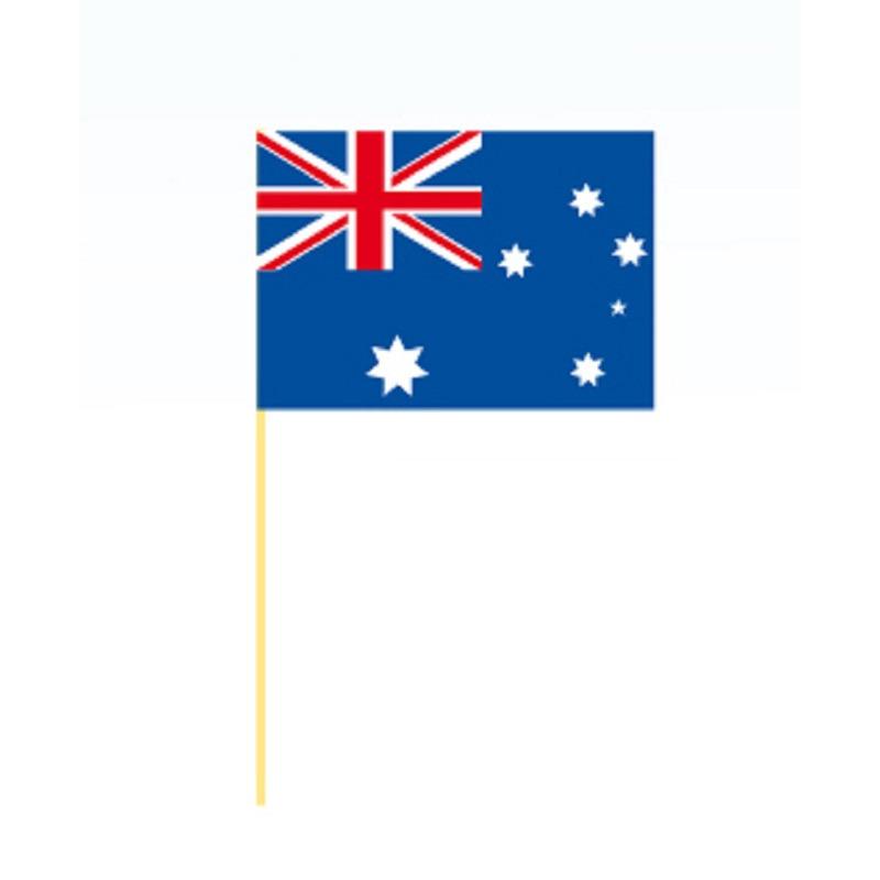 50x stuks grote coctailprikkers vlag Australie 9.5 cm
