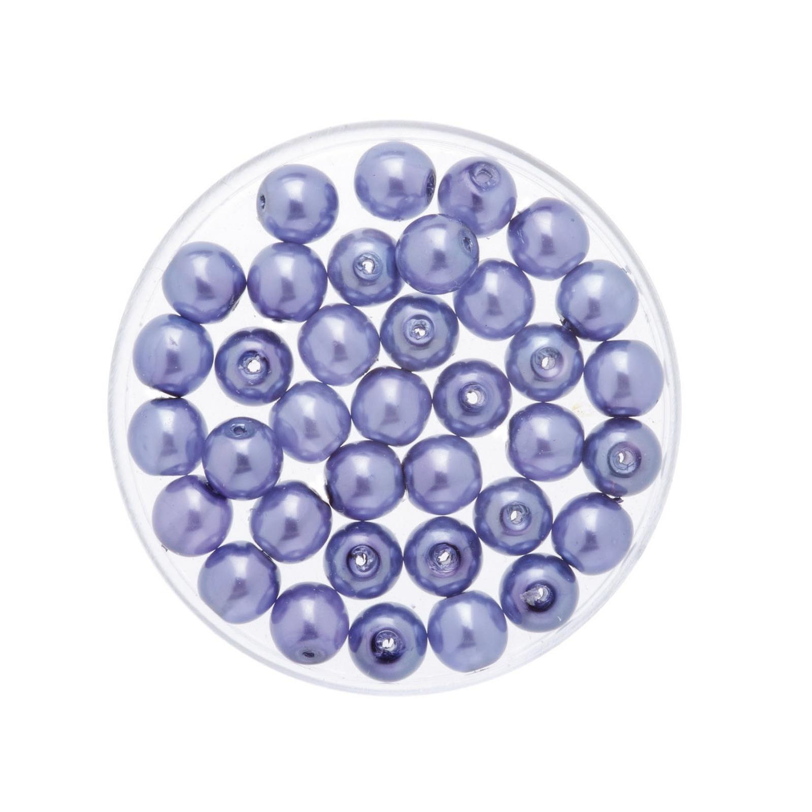 50x stuks sieraden maken Boheemse glaskralen in het transparant lila paars van 6 mm