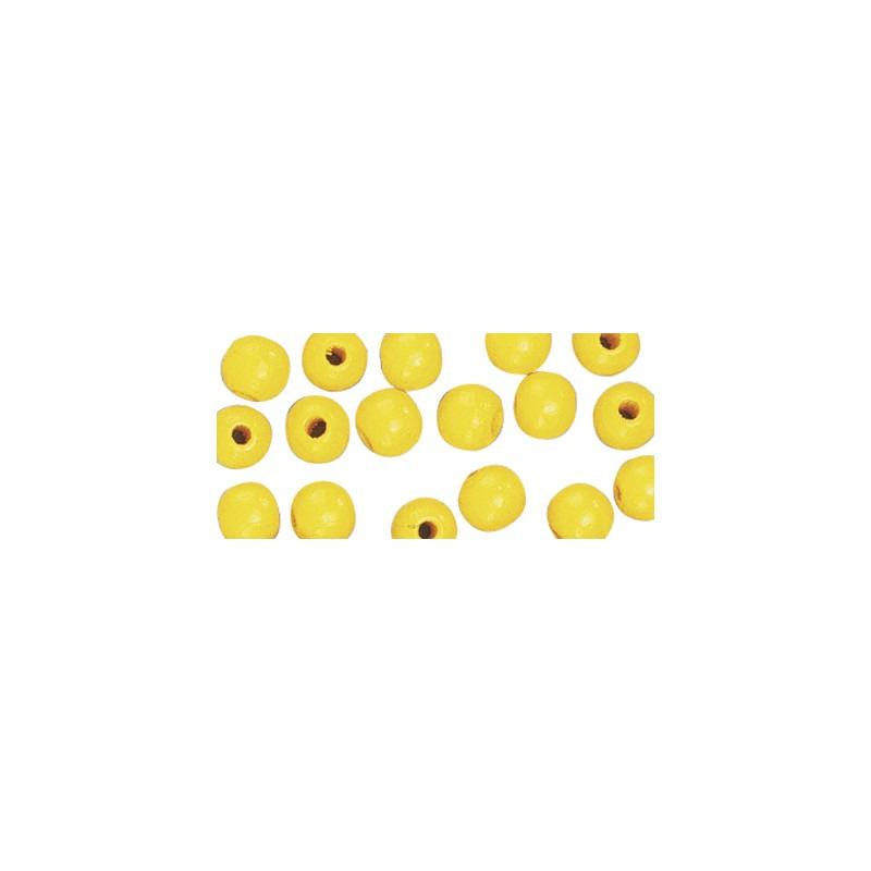 52x gele houten kralen 10 mm