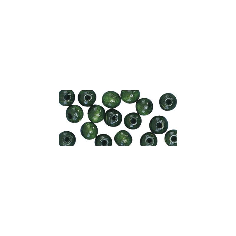 52x groene houten kralen 10 mm