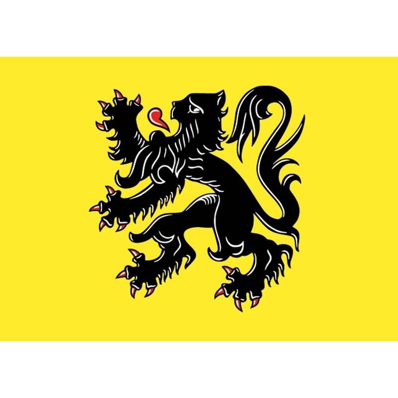 5x Vlaanderen vlag stickers 7.5 x 10 cm