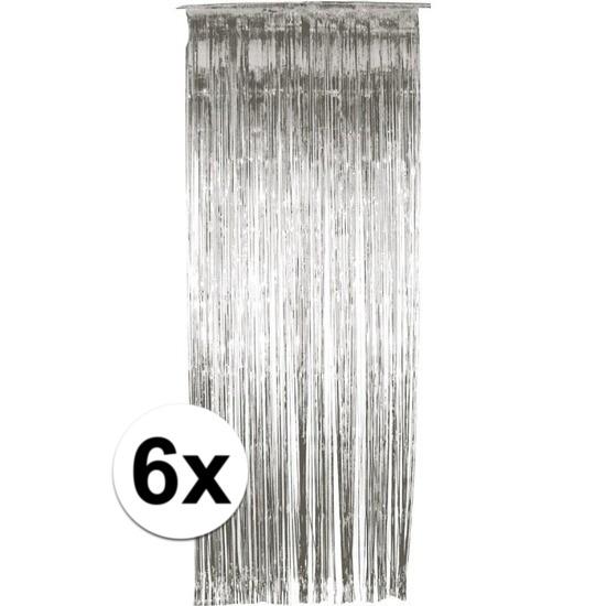 6x folie gordijn in het zilver