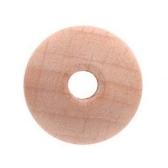 6x Houten kralen 30 mm