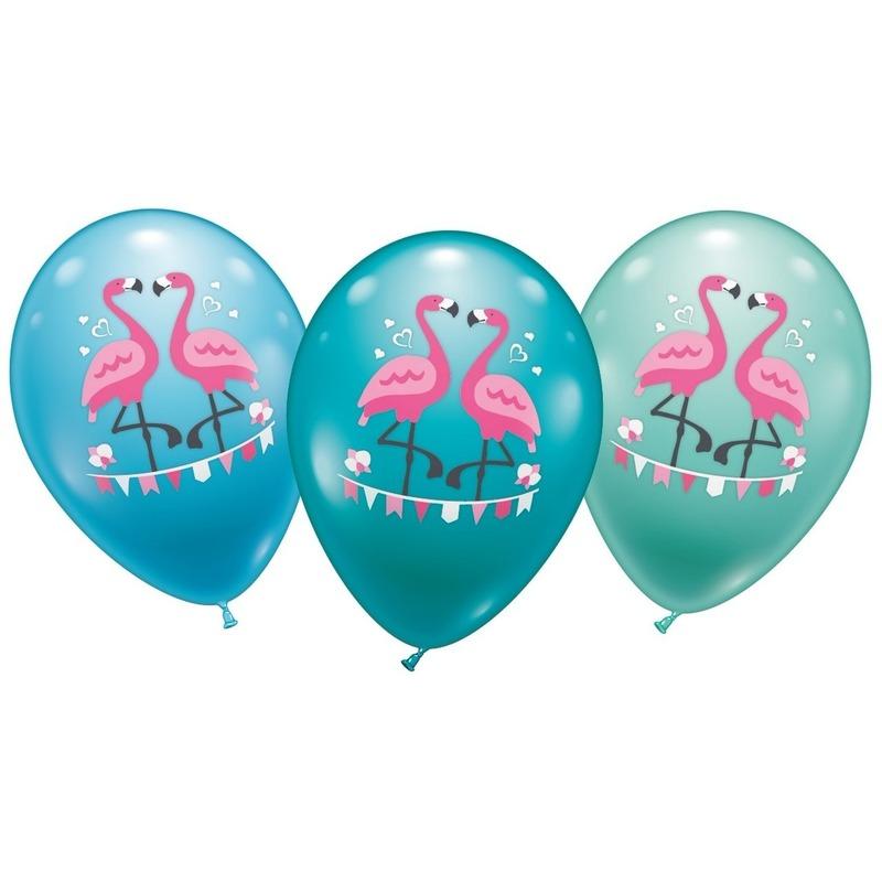 6x stuks Flamingo thema ballonnen 28 cm