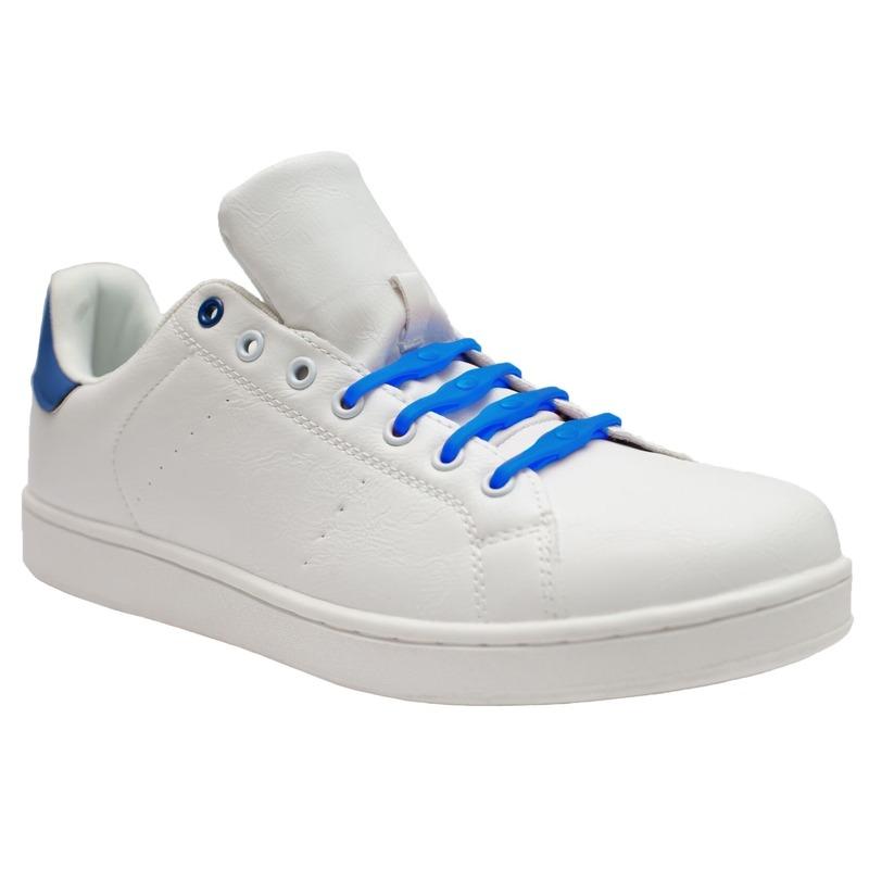 8x Shoeps XL elastische veters kobalt blauw brede voeten