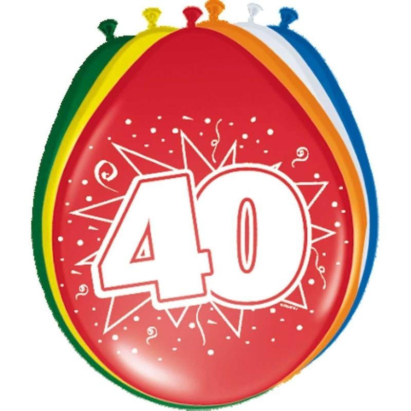 8x stuks ballonnen 40 jaar