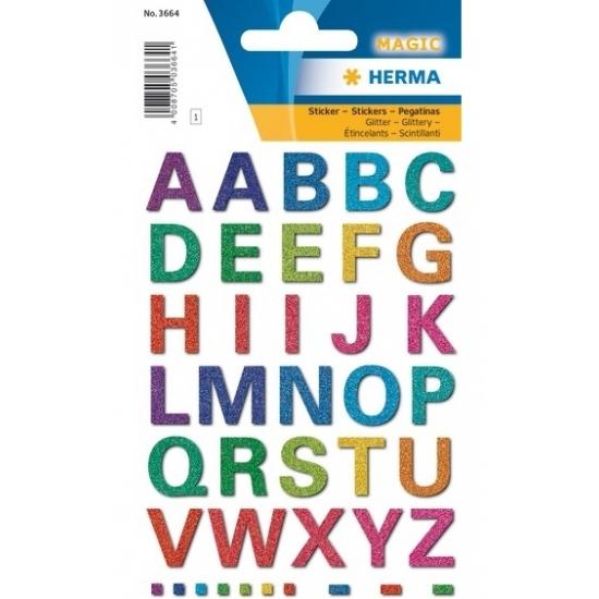 A t/m Z alfabet stickers met alle letters in kleuren
