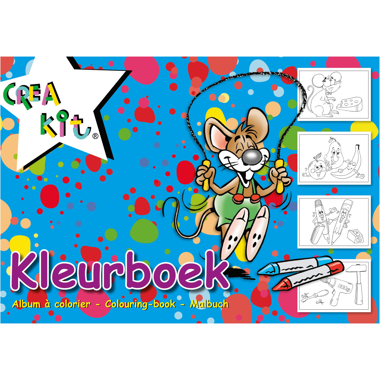 A4 kleurplaten/kleurboeken blauw 24 vellen