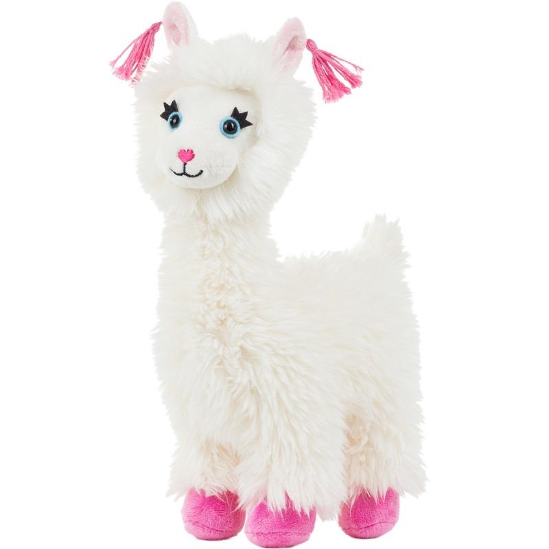 Alpacas/lamas speelgoed artikelen alpaca/lama knuffelbeest wit 22 cm