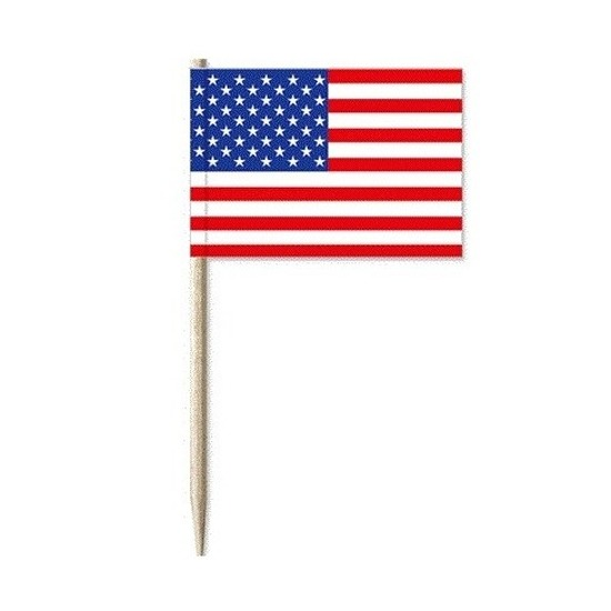 Amerikaanse vlaggen prikkertjes 50x