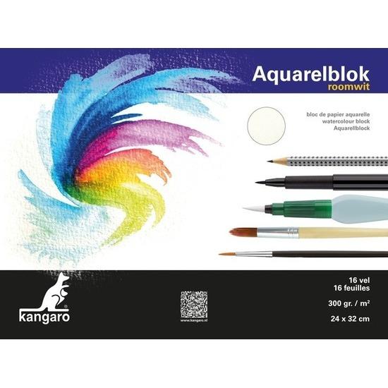 Aquarel papier 16 vel 300 gram 32 x 24 cm