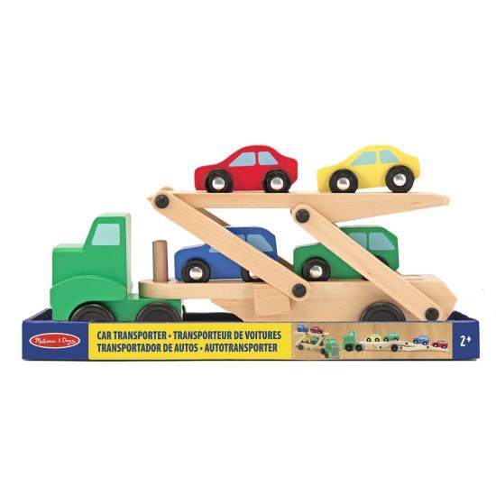 Auto transportwagen met dubbele lader