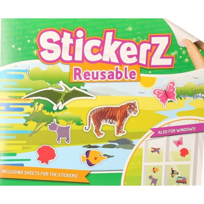 Autoraam stickers boek wilde dieren thema