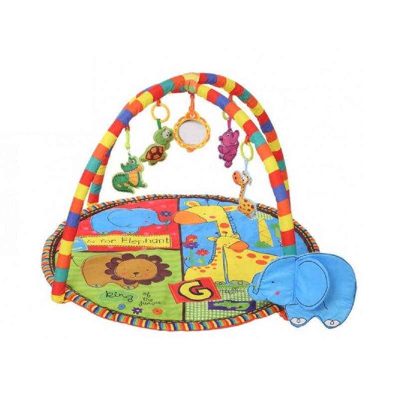 Baby speelkleed/babygym gekleurd met knisperdoekje voor jongens/meisjes