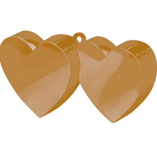 Ballon gewichtje gouden hartjes