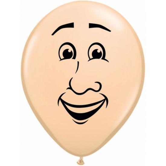 Ballon mannen gezichtje van 40 cm