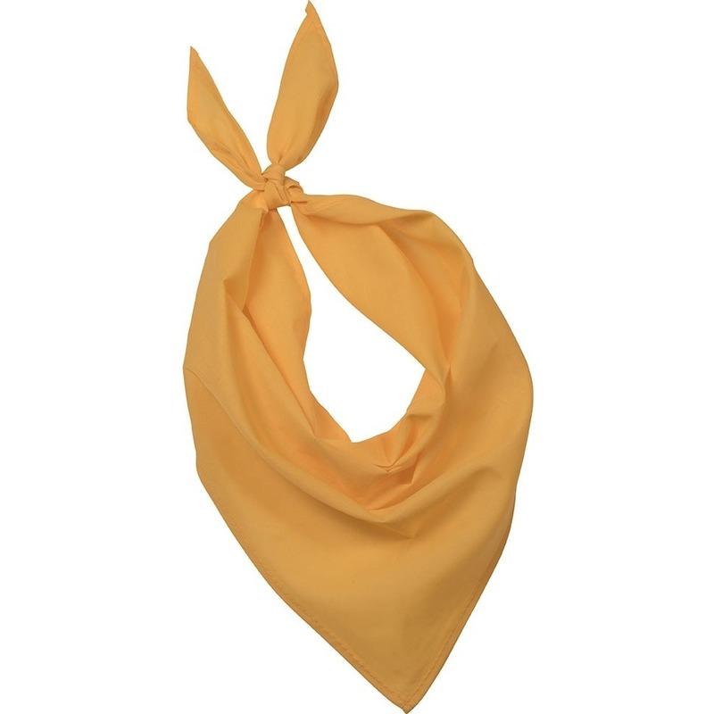 Bandana/zakdoek geel voor volwassenen