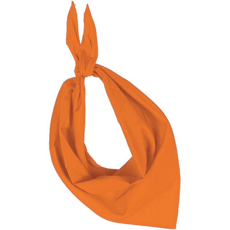 Bandana/zakdoek oranje voor volwassenen