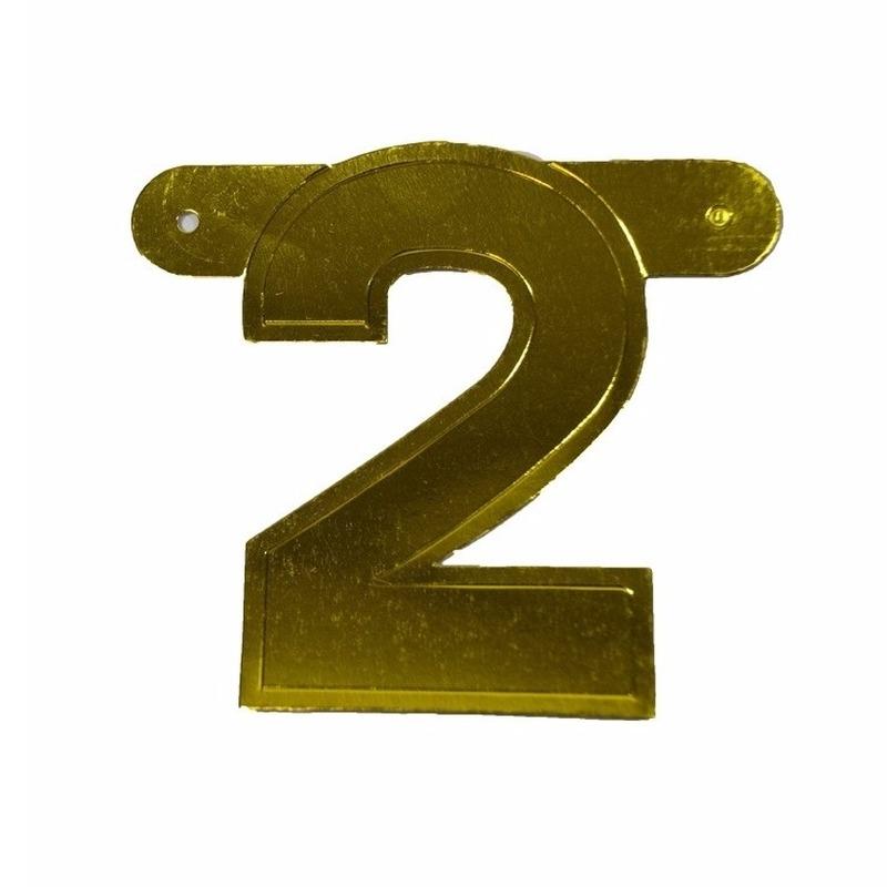 Banner cijfer 2 mettalic