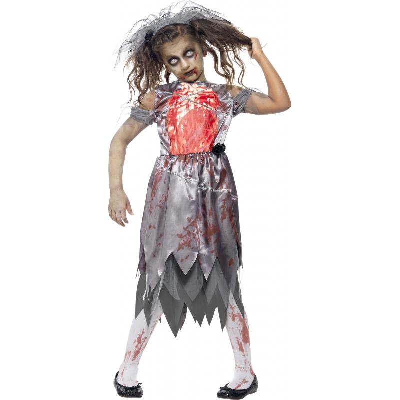 Bebloede zombie bruid outift voor meisjes